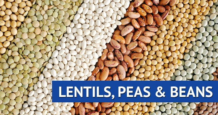 Lentils, Peas, and Beans