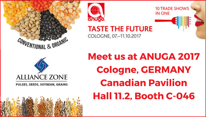 Meet Alliance Zone at ANUGA 2017 - Cologne, Germany - Hall 11.2, Canadian Pavilion, Booth C-046